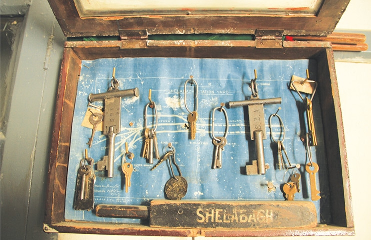 Relics from the past: the keys at the Shela Bagh train station are a testament to its history