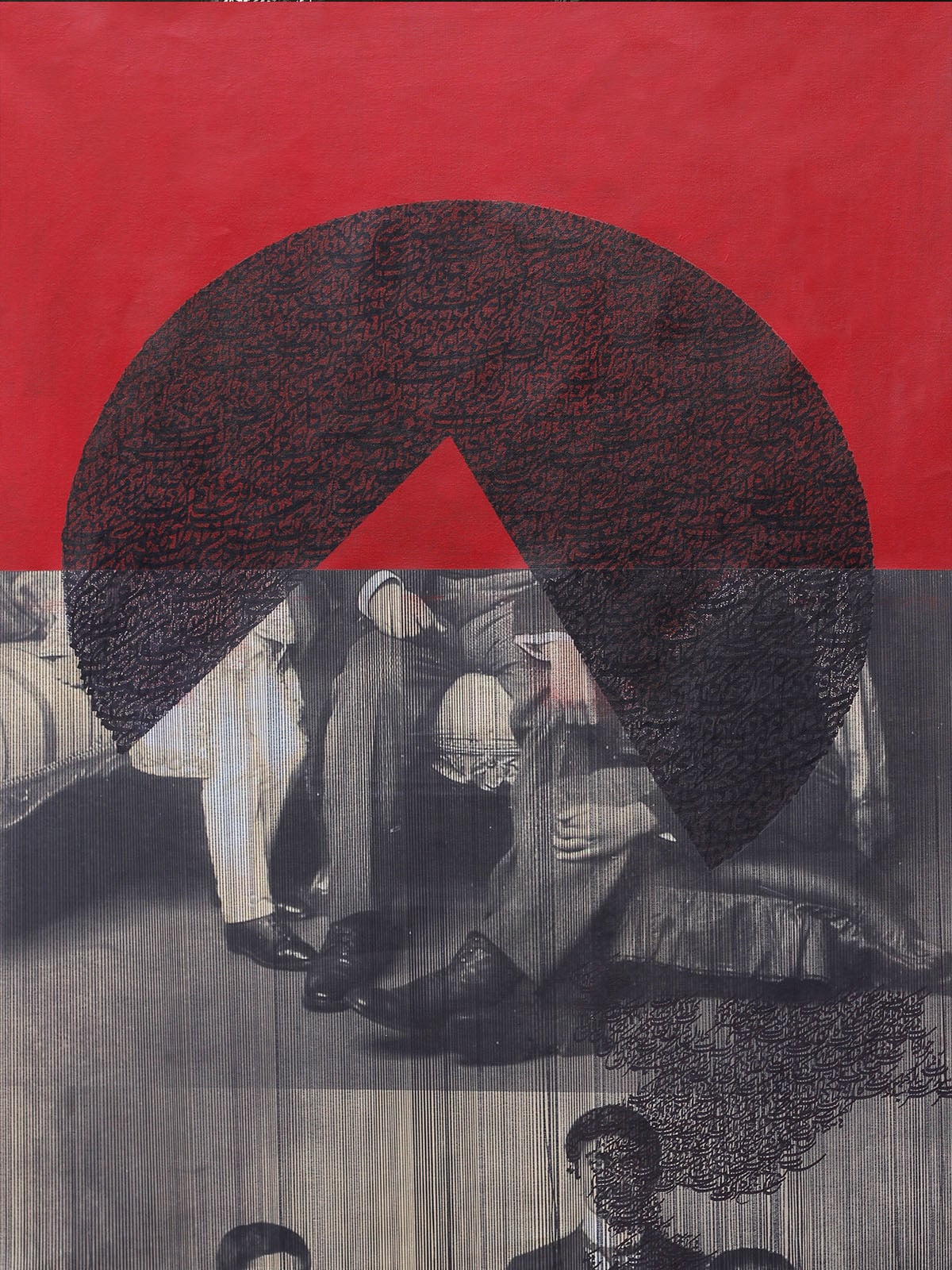 Muzzumil Ruheel's *Nowhere to Run*   Courtesy Grosvenor Gallery