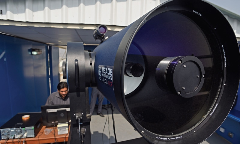 The country's largest telescope has been installed in an observatory in the capital's Institute of Space Technology.