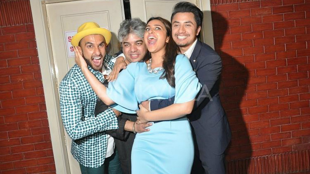 Happier times: Ali Zafar (R) with the cast and director of 2014's Kill/Dil