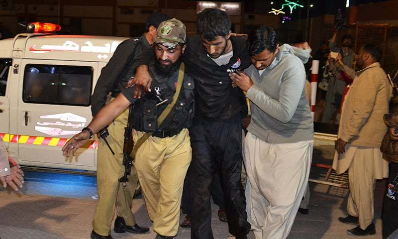 61 killed in twin suicide attacks as terrorists storm police training college in Quetta