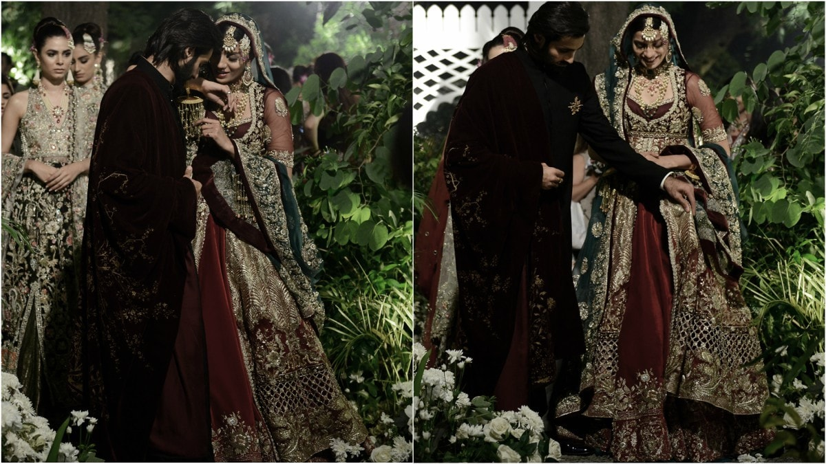 A spot of pretend-romance between Hasnain Lehri and Rabia Butt at the show