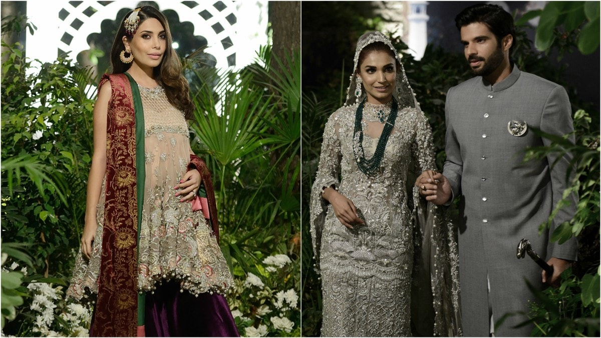 Celebrity showstoppers at the solo show included Maheen Ghani Taseer and Adnan Malik, and Amna Ilyas briefly returned from her modelling hiatus