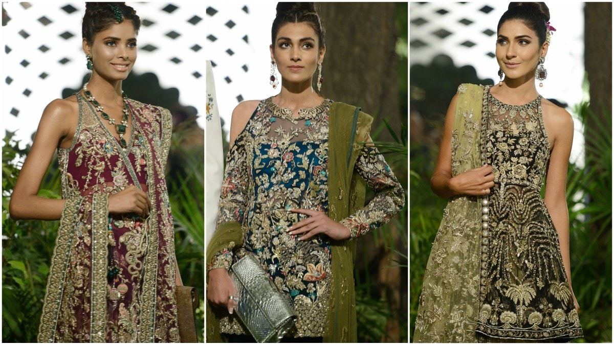 Khadijah Shah has dabbled with plenty of colour in Elan's latest bridal collection