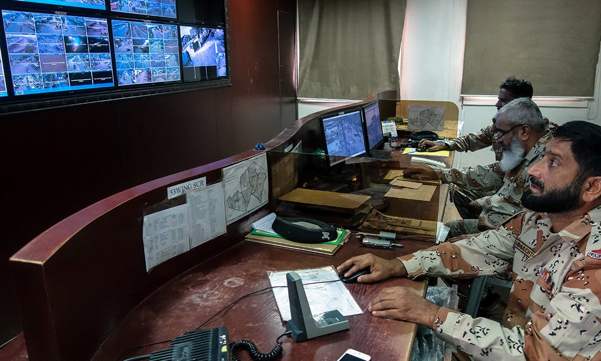 Rangers personnel at the crime monitoring cell of SITE Association | Photo courtesy Laurent Gayer