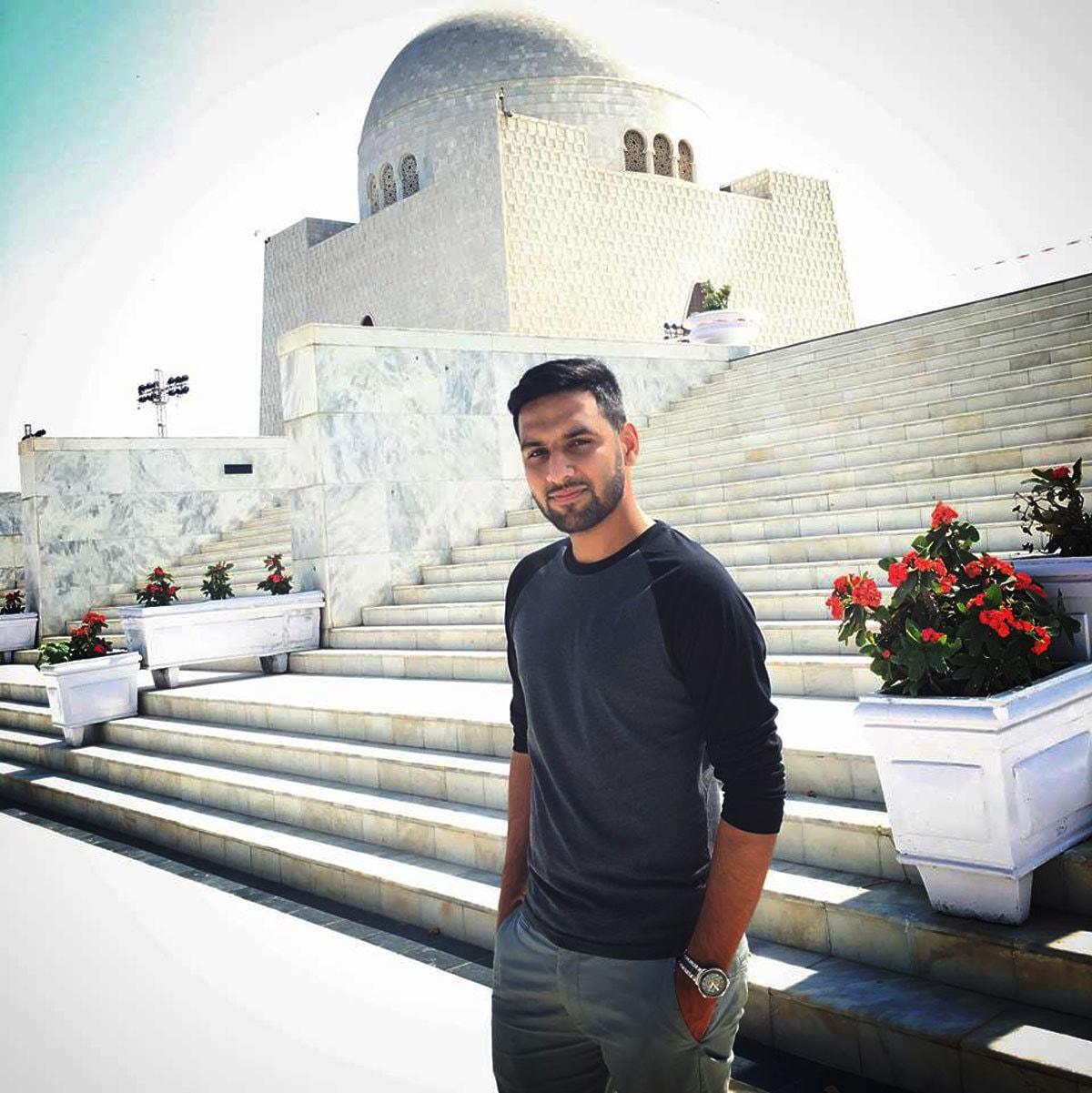 Zaid at the Quaid-e-Azam Mausoleum in Karachi