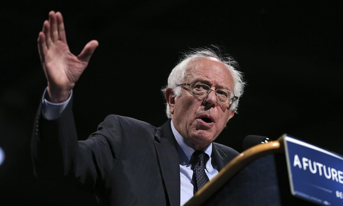 Former Democratic presidential candidate, Sen. Bernie Sanders, speaks at a campaign rally in New York in April 2016 | AP