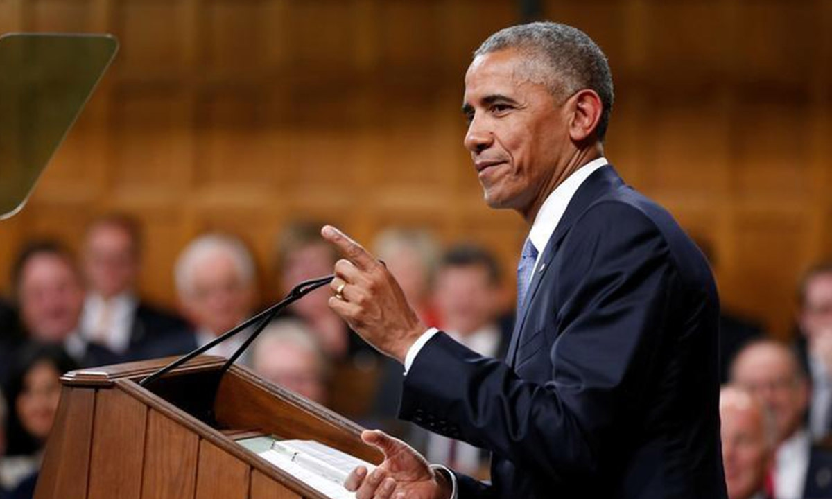 US President Barack Obama addressing the Parliament of Canada in June 2016 | Reuters