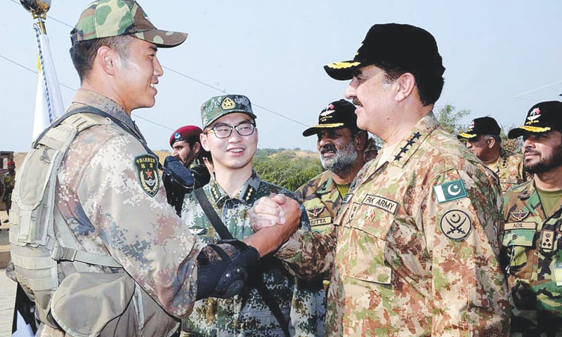 COAS praises military drill with China
