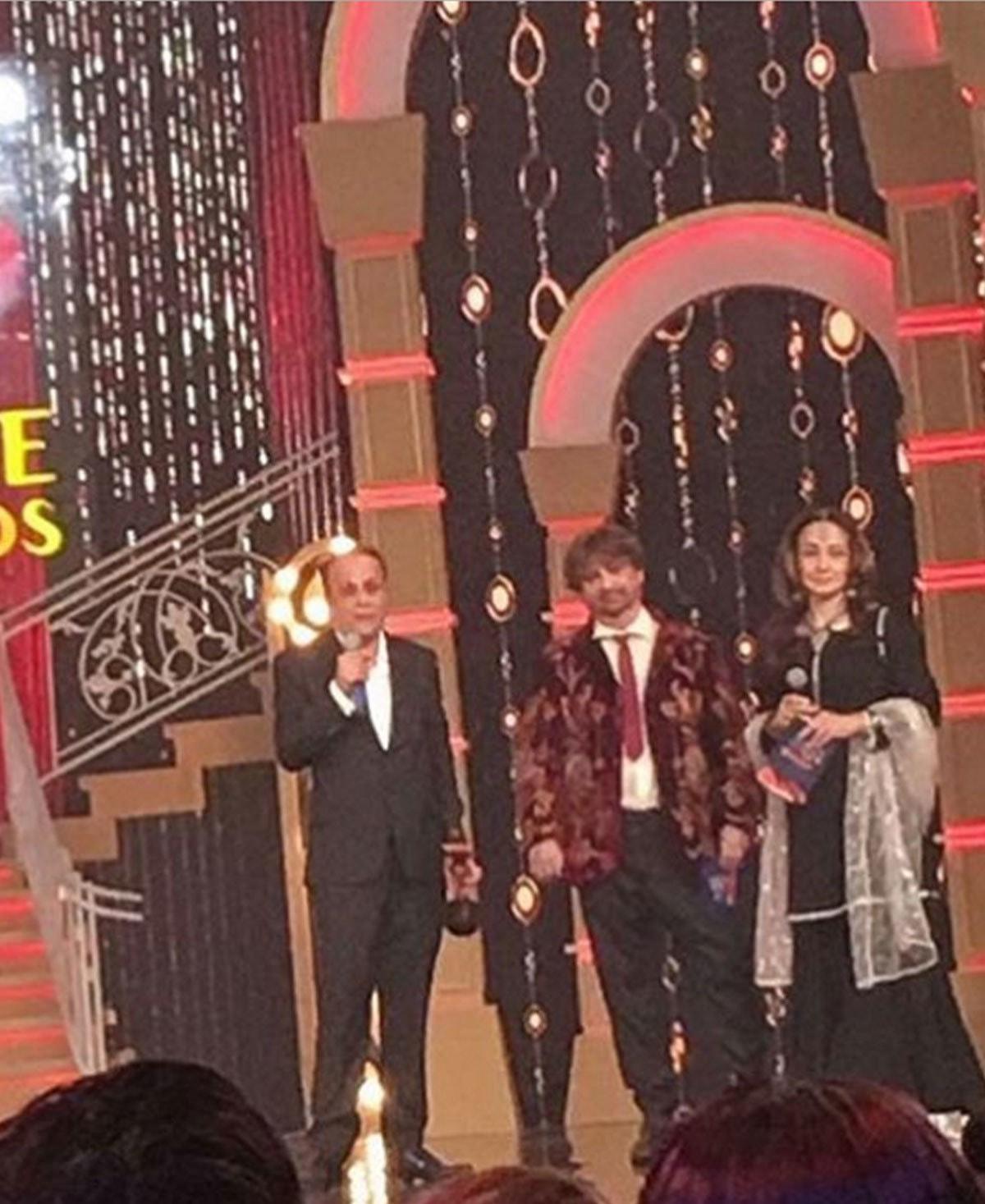 Raheal Rao giving his acceptance speech. Photo: Instagram