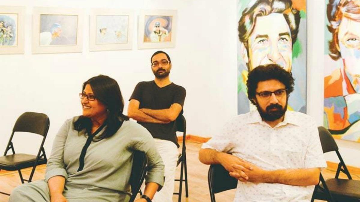 Directors Meenu Gaur and Farjad Nabi and producer Mazhar Zaidi