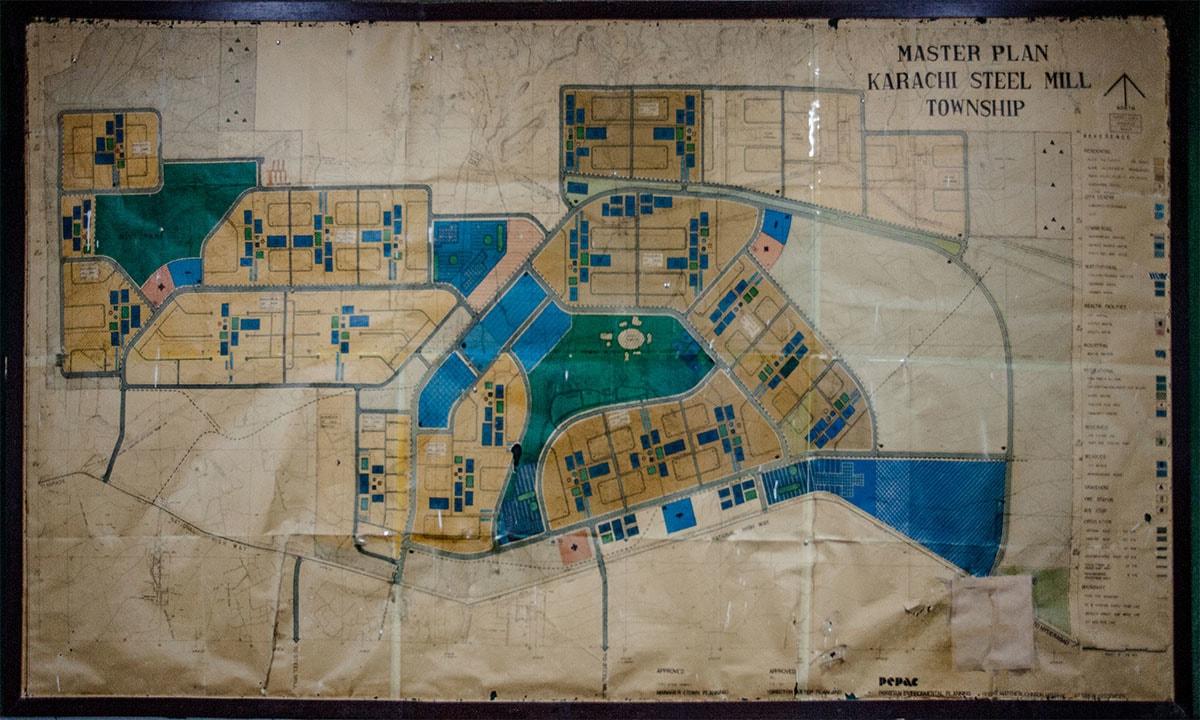 The master plan for Karachi Steel Mill Township