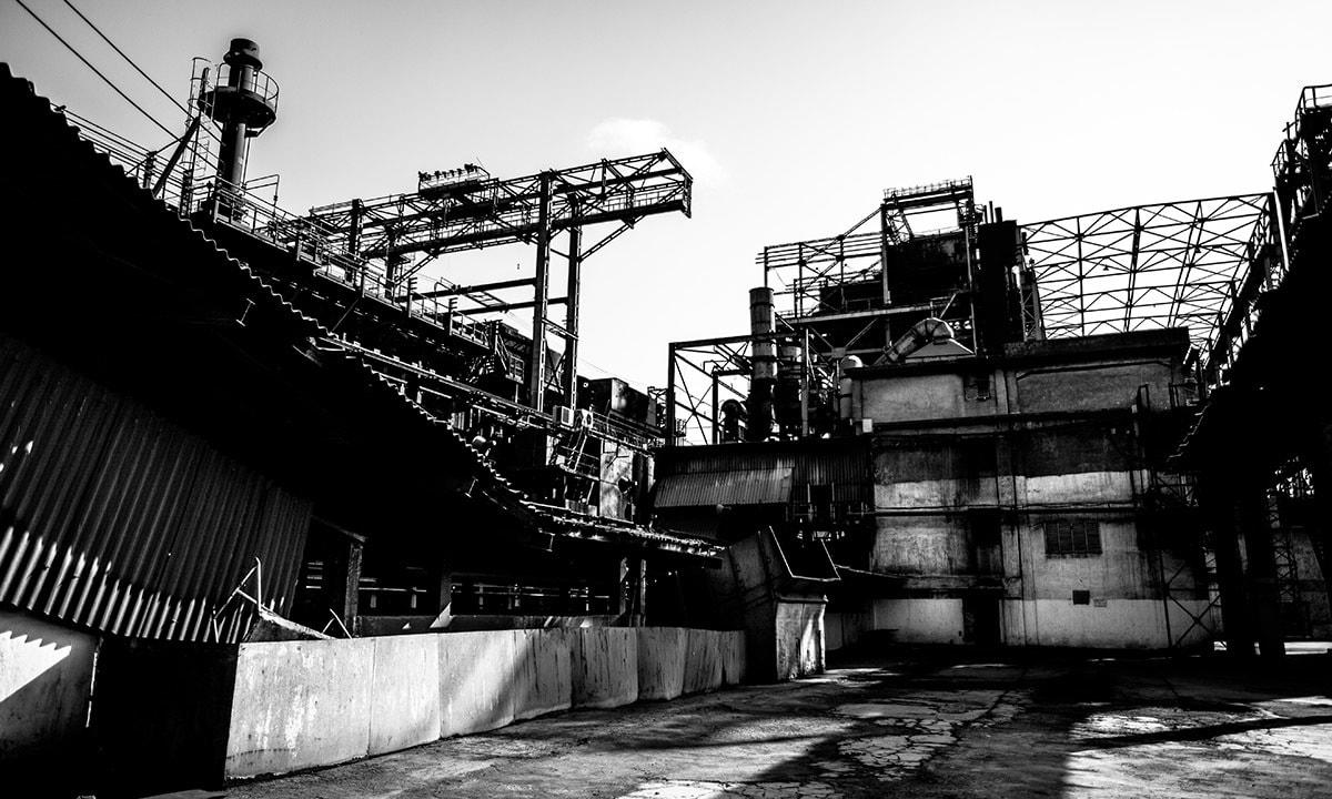 The coke oven plant inside Pakistan Steel Mills