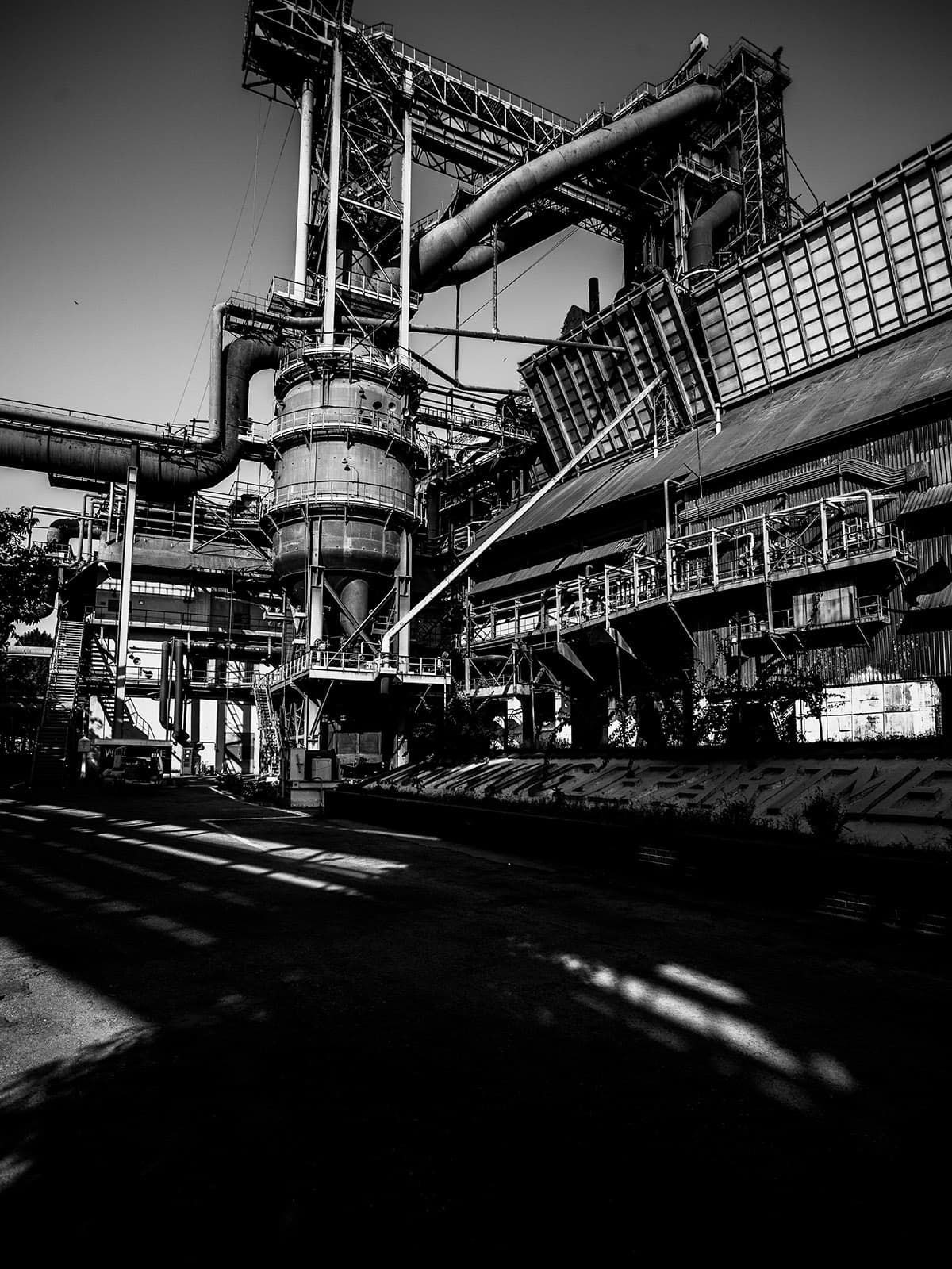 Inside the iron making department of Pakistan Steel Mills