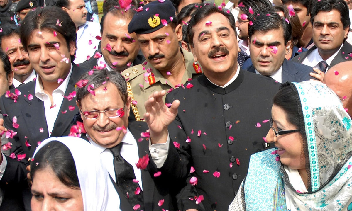 Former premier Yousuf Raza Gilani at the Supreme Court in Islamabad in April 2012 | Tanvir Shahzad, White Star