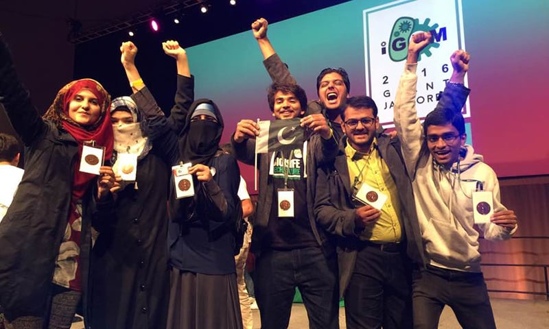 The Pakistani team of 12 students won a bronze medal at the iGEM championship held in Boston.