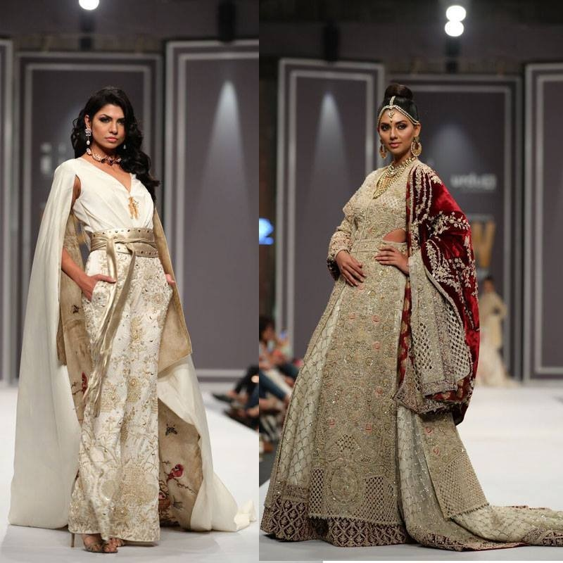 While some of Shehla Chatoor's pieces harked back to her earlier hits, her collection fashioned her favoured embellishments onto new silhouettes
