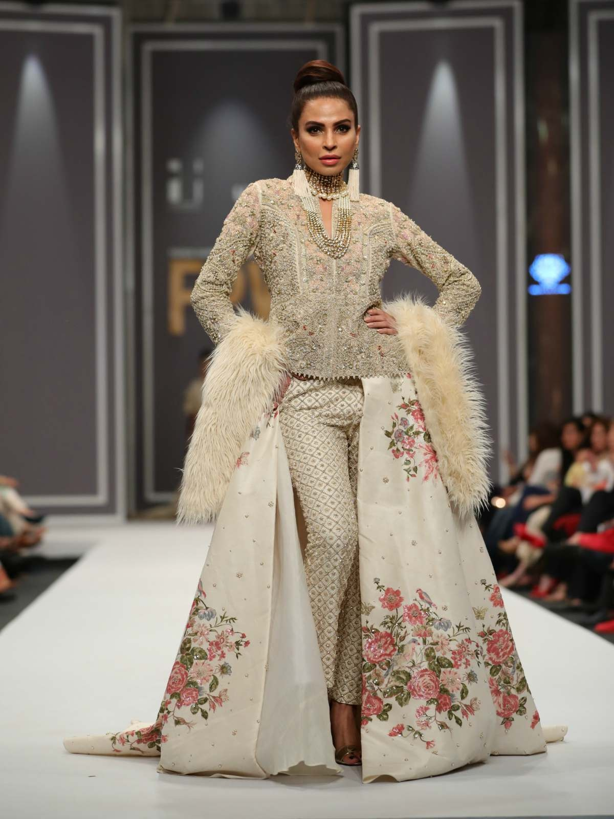 The detachable lehenga worn by Fouzia Aman boasted a silhouette that could be customised for the occasion