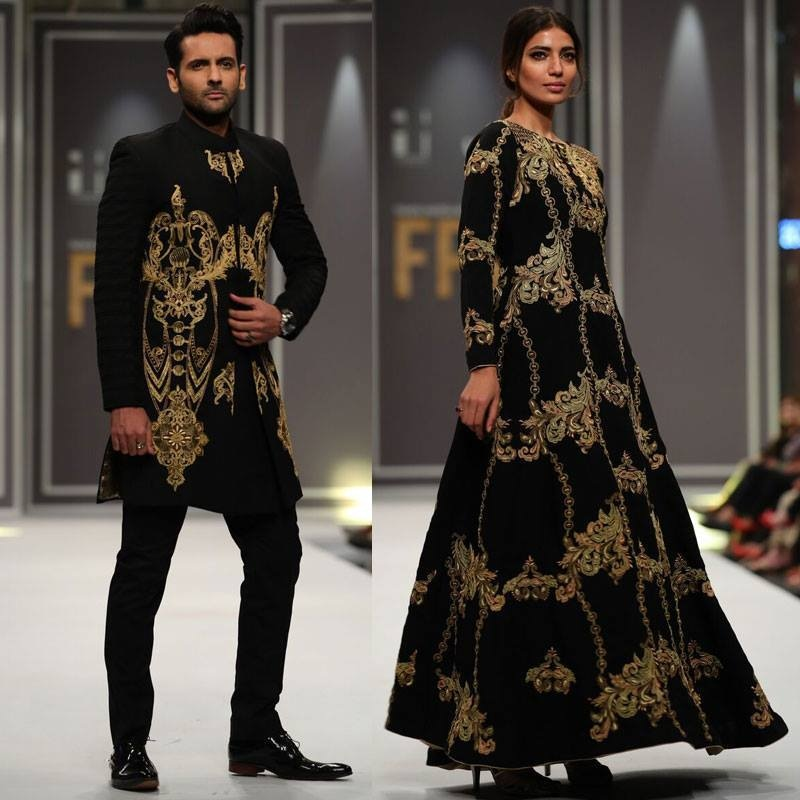 Mohib Mirza (left) was the showstopper was Arsalan Iqbal, who managed to push the envelope in his comeback collection