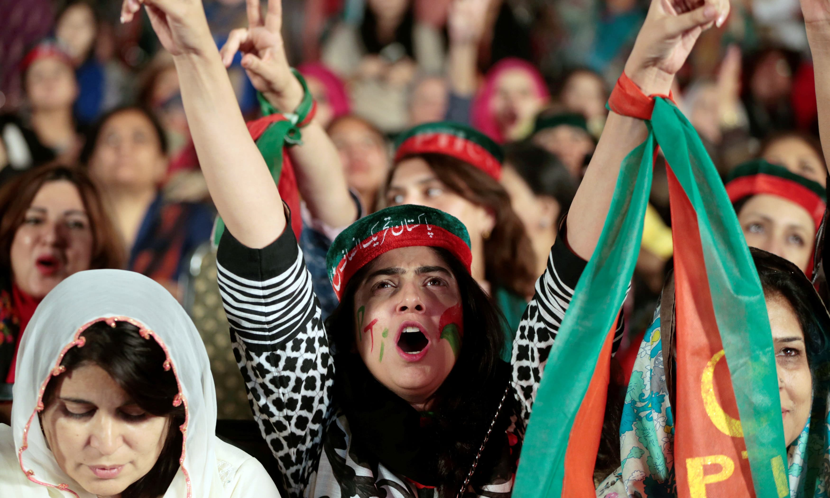 pakistan pti supporters demonstrate - HD 3500×2100