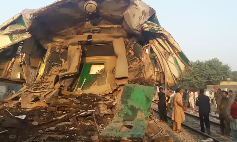 Pakistan train collision kills at least 11 - hospital official