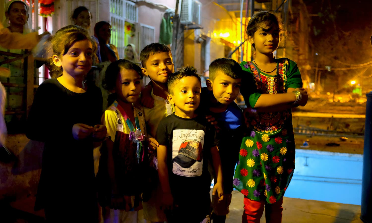 A group of children wishes us a happy Diwali.
