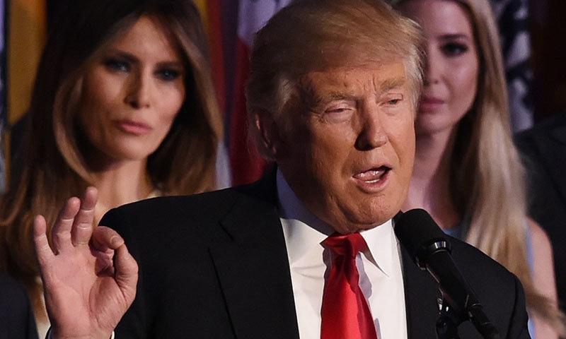 امریکا کے نو منتخب صدر ڈونلڈ ٹرمپ—  فوٹو : اے ایف پی