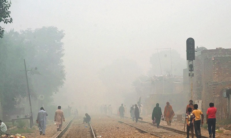 Smog in Lahore -File photo