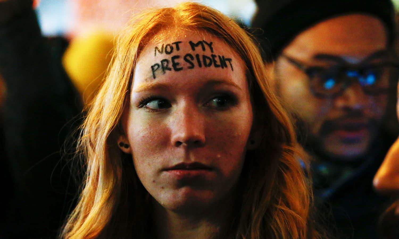 ڈونلڈ ٹرمپ کے صدر بننے کے خلاف امریکا بھر میں مظاہرے ہوئے. - اے ایف پی.