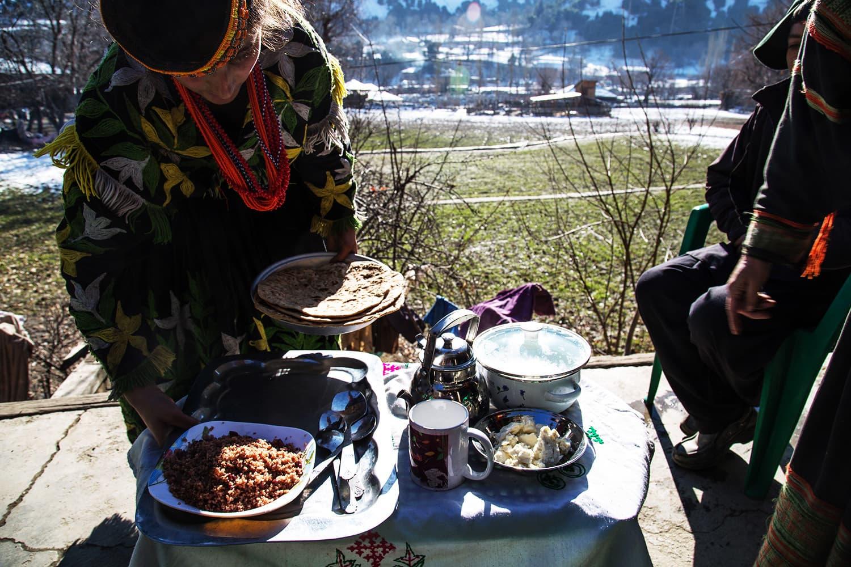 کیلاش قبیلے کا روایتی کھانا نہایت ہی لذیذ ہوتا ہے