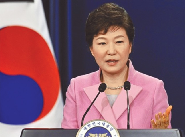 SOUTH Korea's beleaguered President Park Geun-hye.
