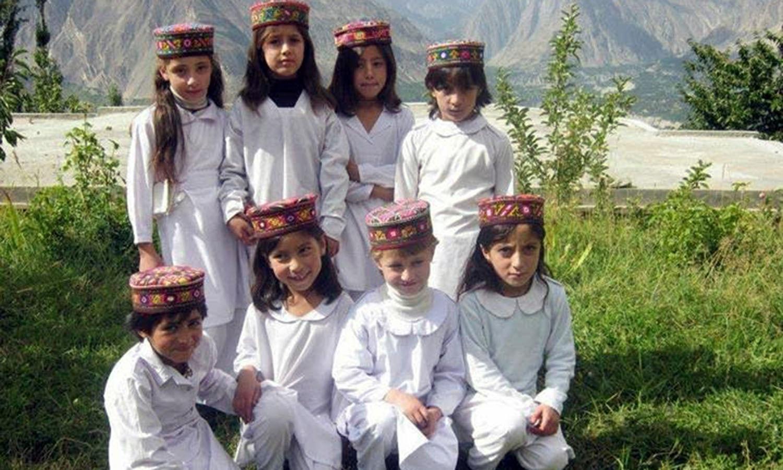 School children in Gilgit City (Pic: Nasir Ullah Baig).