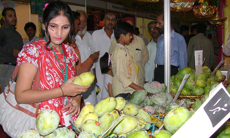 A 'mango festival' in the Sindh city of Mirpurkhas. (Pic: Kawish)
