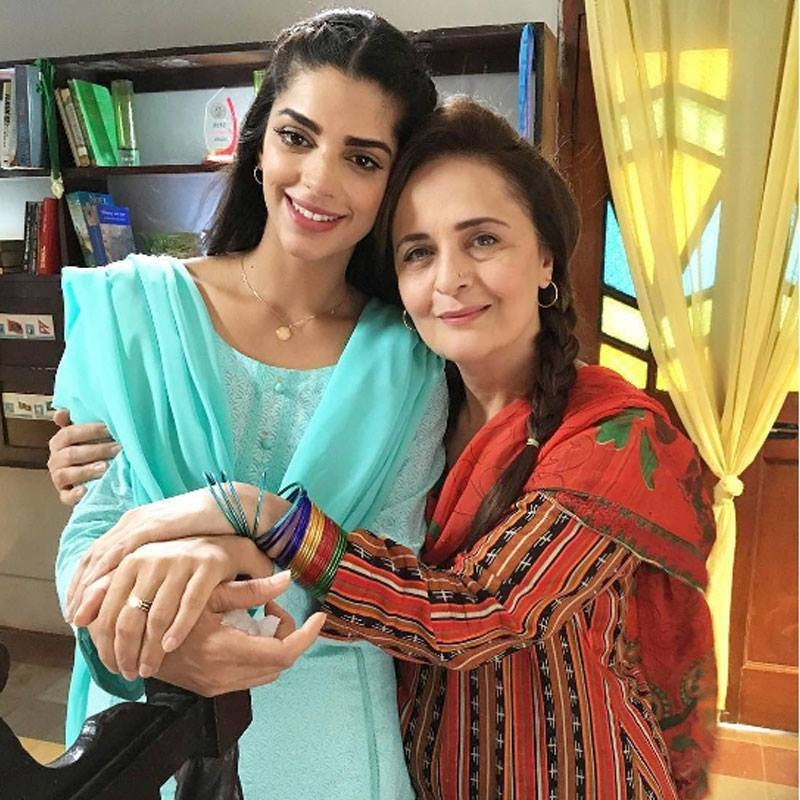 Sanam Saeed and Hina Bayat during the set of Dil Banjara
