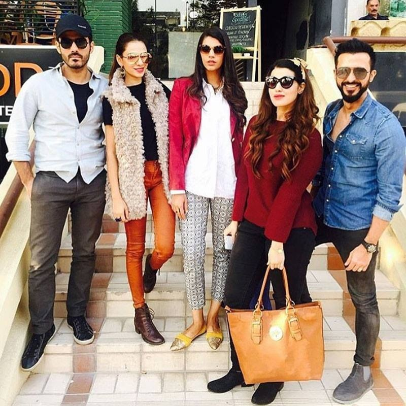 The cast of Dobara Phir Se promoting their upcoming film in Islamabad
