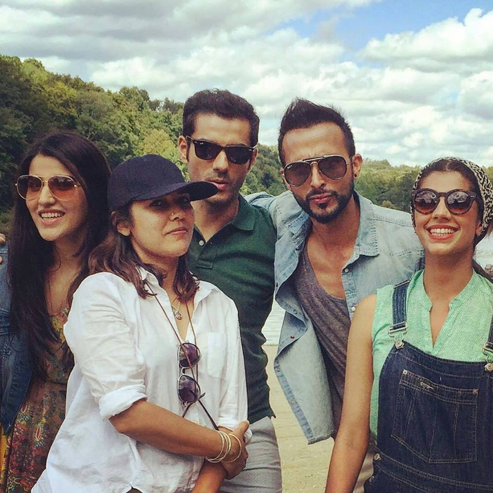 Director Mehreen Jabbar (in the cap) with the cast of Dobara Phir Se