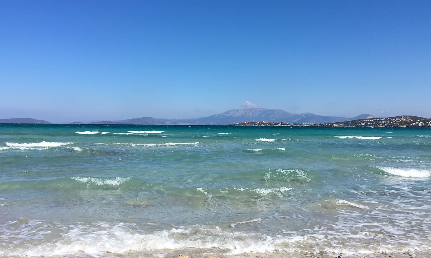 The pristine ılıca beach is a 15-minute drive from the town centre.