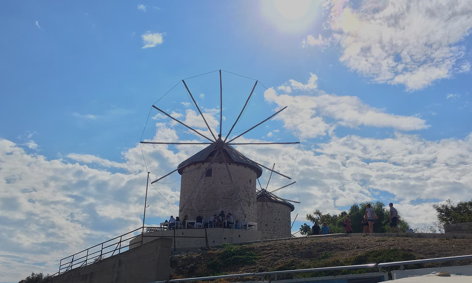Traditional windmills.