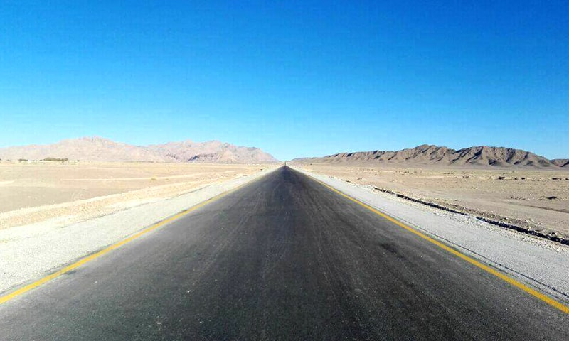 The N85 cuts through the vast expanse of Balochistan south of Quetta.