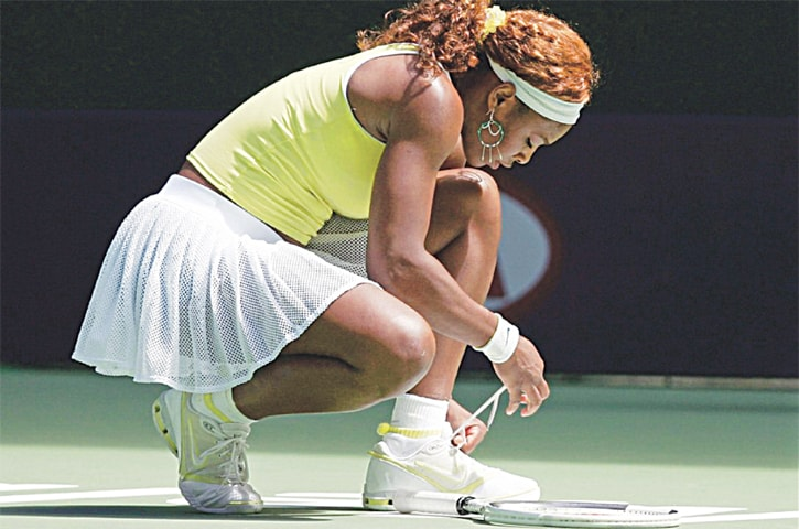 Serena Williams always ties her shoelaces a certain way but more than anything believes in her socks