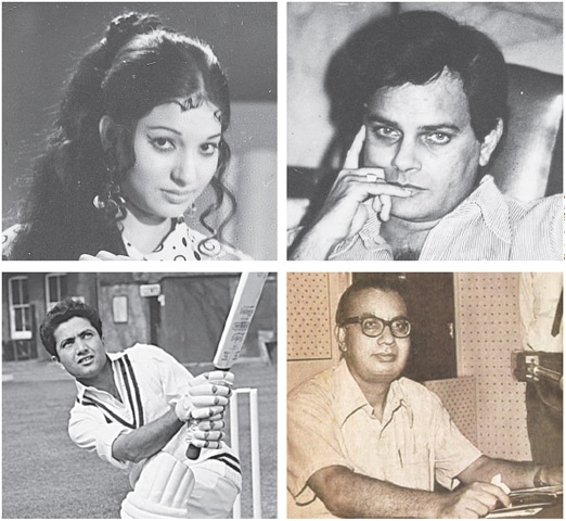 Many celebrities, sportsmen and intellectuals once lived in Nazimbad (clockwise, from top left): actress Sangeeta; actor Shakeel; writer Ibn-i-Insha and cricketer Hanif Mohammad