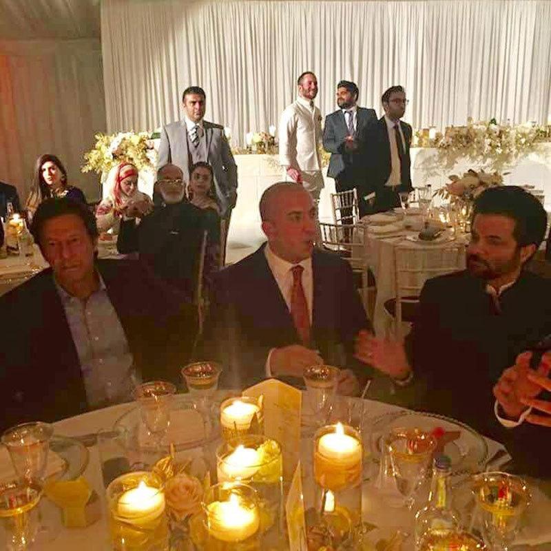 Imran Khan and Ail Kapoor at the wedding function. Photo: Facebook