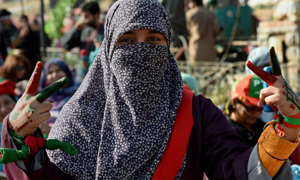 A PTI supporter at a rally in Islamabad on November 30, 2014   AFP