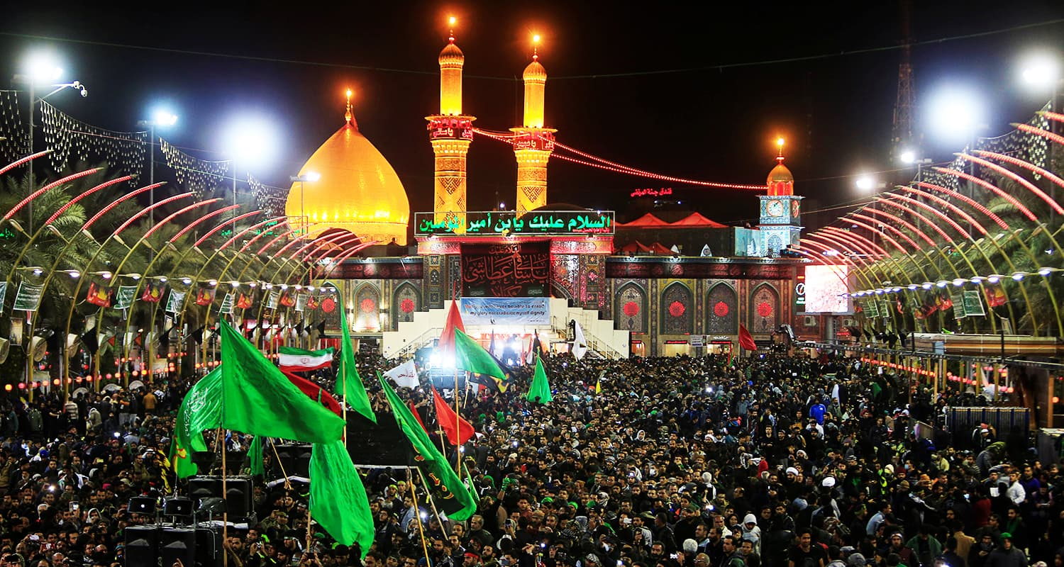 Pilgrims gather as they commemorate Chehlum in Karbala, Iraq. — Reuters