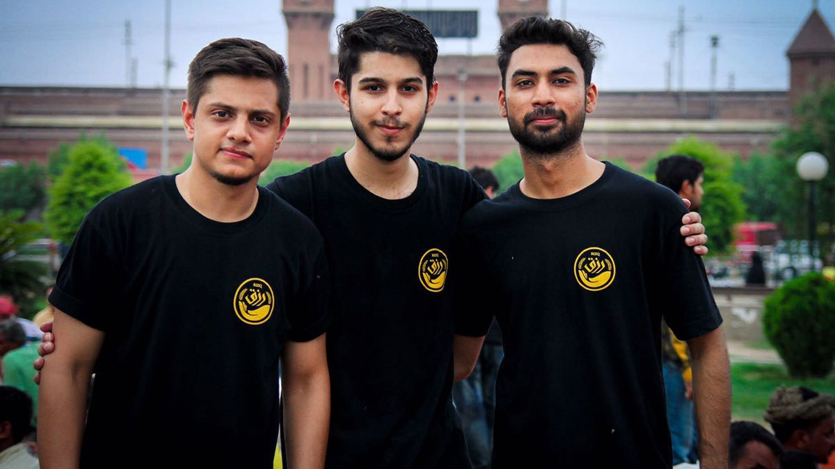 The trio from LUMS never knew that their idea could go viral online. Photo: Facebook