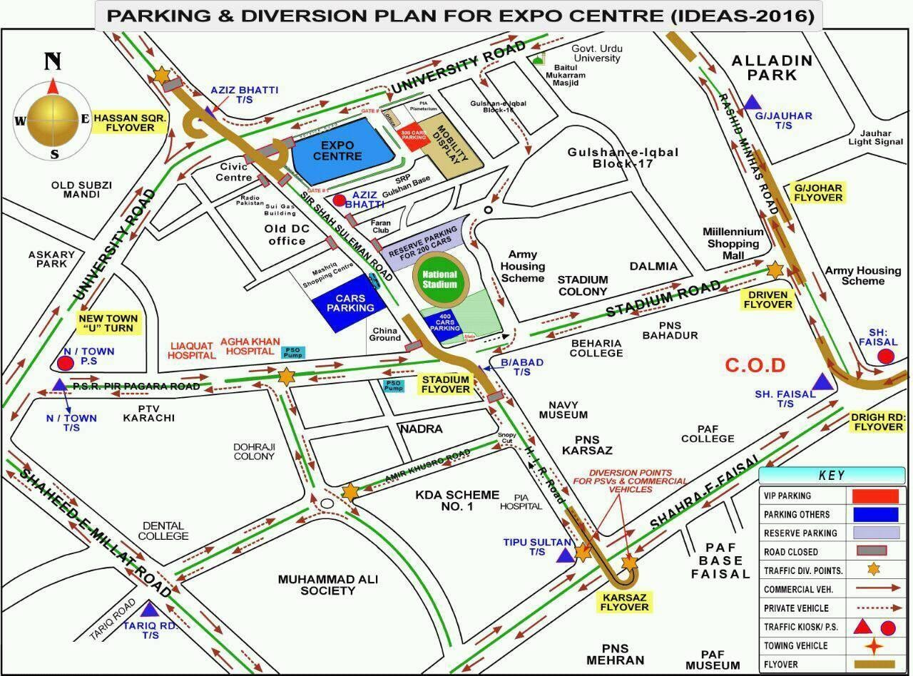 Traffic diversion plan in place for IDEAS 2016. ─ DIGP Traffic Karachi