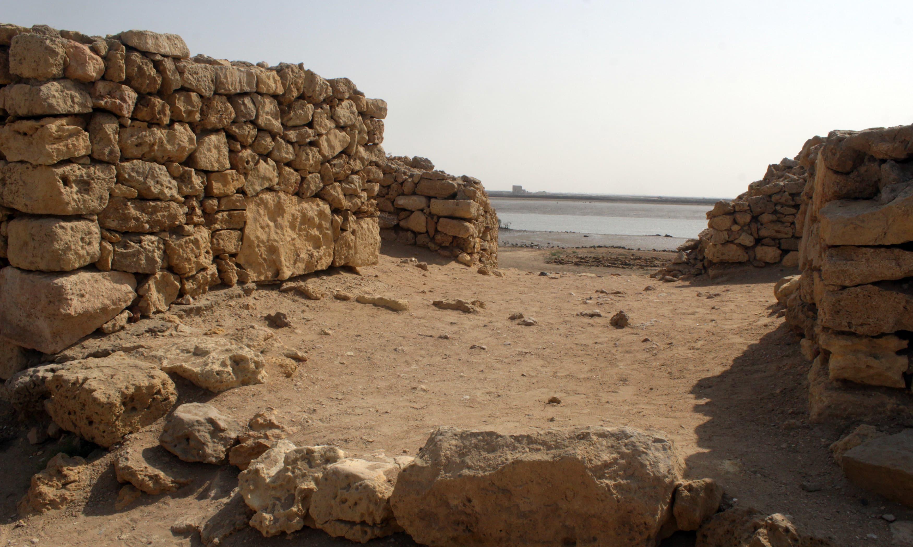 پرانے بھنبھور شہر کا داخلی راستہ