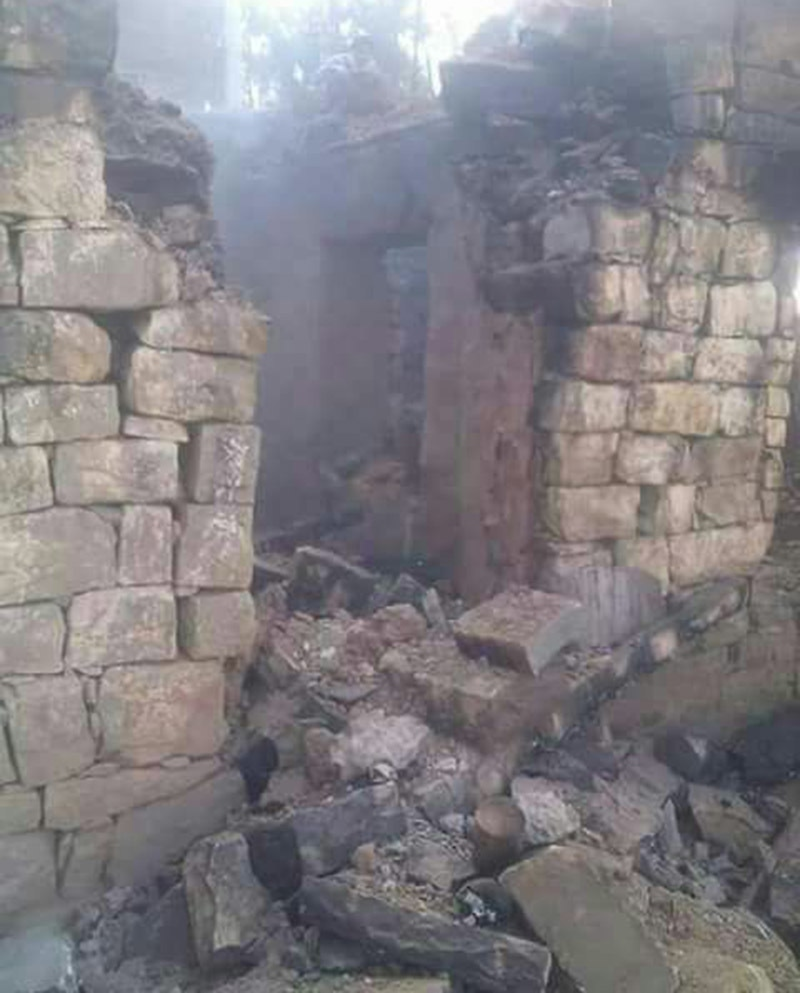 Indian shelling has badly damaged houses in the valley. ─ Photo by author.