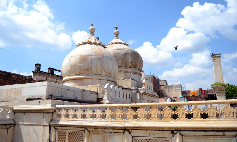 The domes of Moti Masjid.
