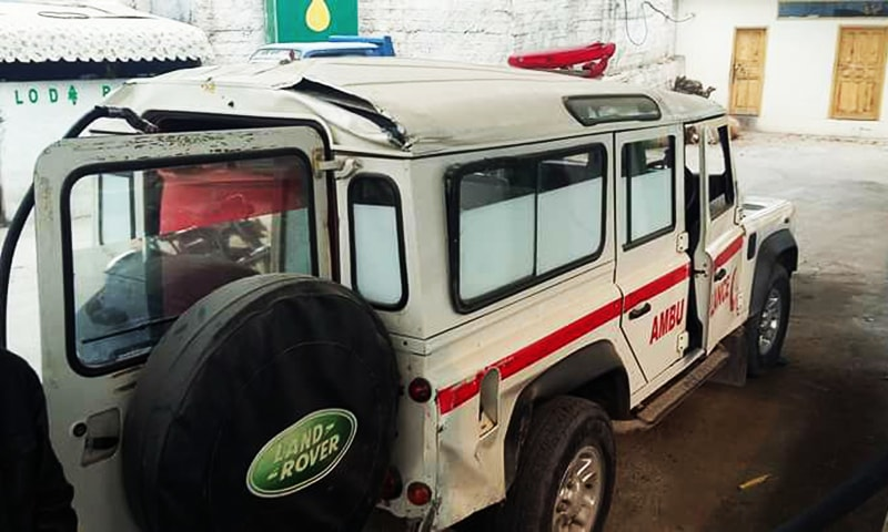 The ambulance that was targeted by Indian shelling. ─ Photo by author.